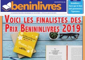 Voici les finalistes des Prix Beninlivres 2019