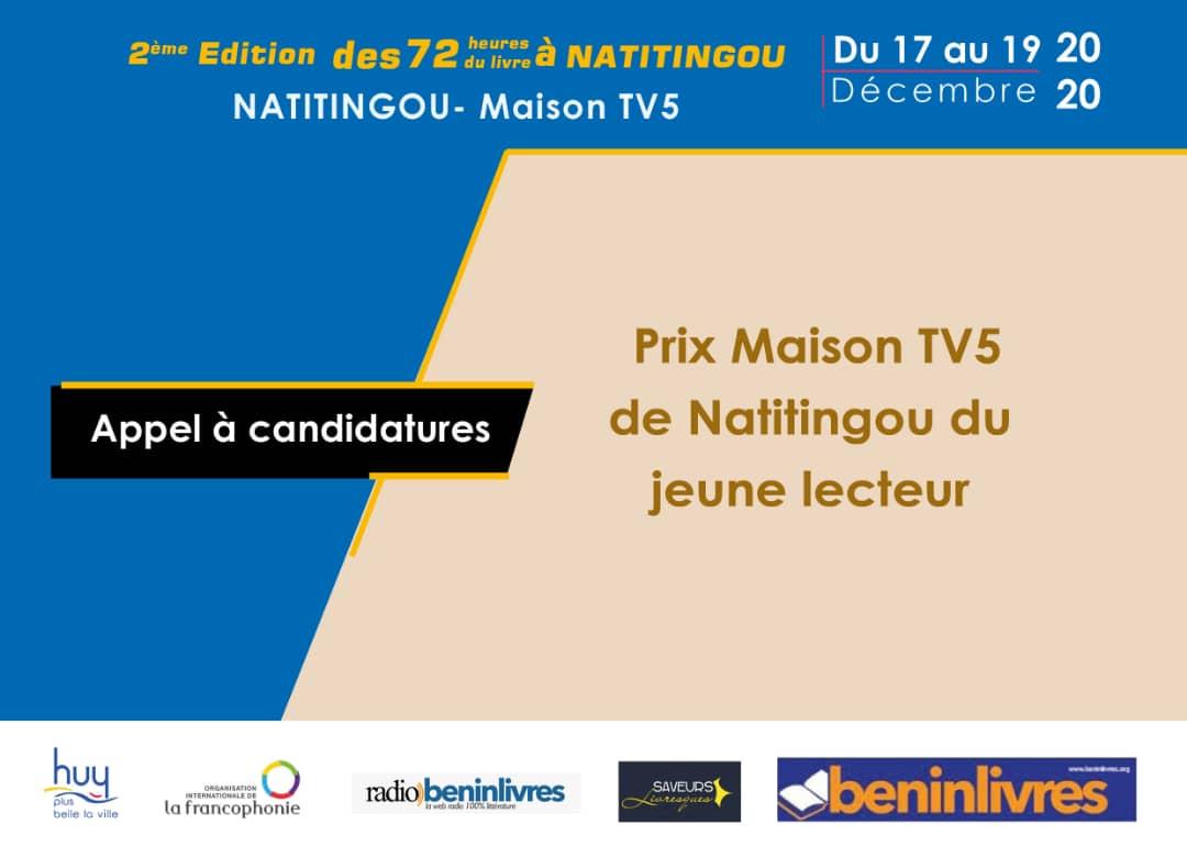 PRIX MAISON TV5 DU JEUNE LECTEUR 2020: L'APPEL A CANDIDATURES